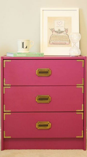 Hack Your Ikea Three Easy Ways To Elevate Inexpensive Furniture. Ikea Pink Dresser   Trend Dressers Designs