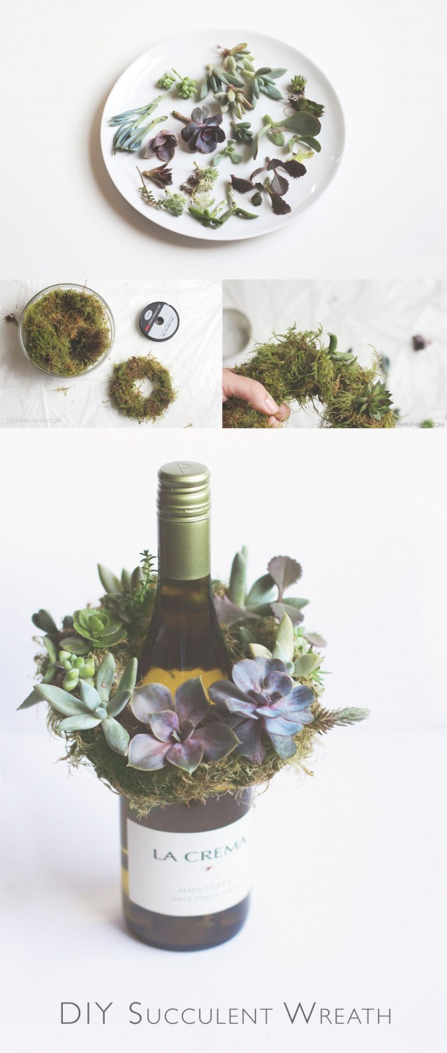 This gorgeous mini succulent wreath DIY is an enchanting way to capture a little bit of  summer. Makes a terrific hostess, or housewarming gift.