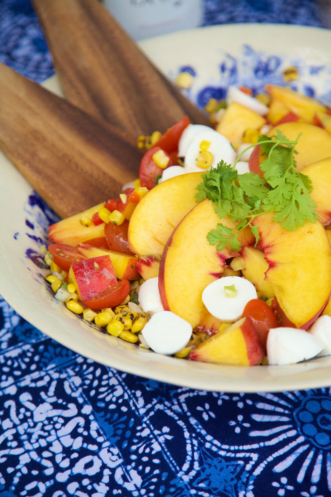 Top 14 Summer Recipes Roundup: Peach and Corn Salad