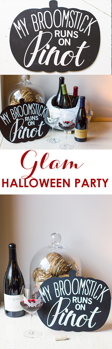 Create a glamorous halloween party with these easy DIY ideas!