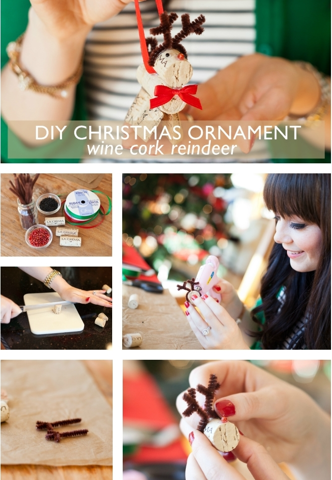 Triple diy wine cork christmas ornaments diy cork reindeer our favorite diys are always ones that you can do with a solutioingenieria Images