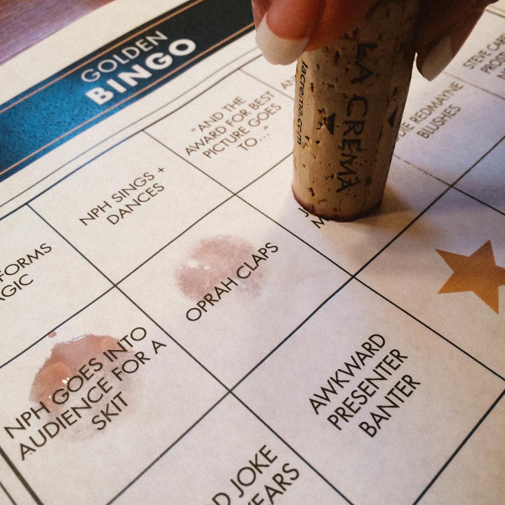 Using a cork to mark a bingo game