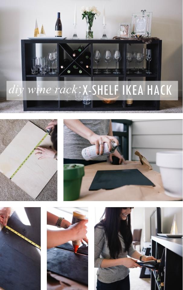 Diy Wine Rack An X Shelf Ikea Hack