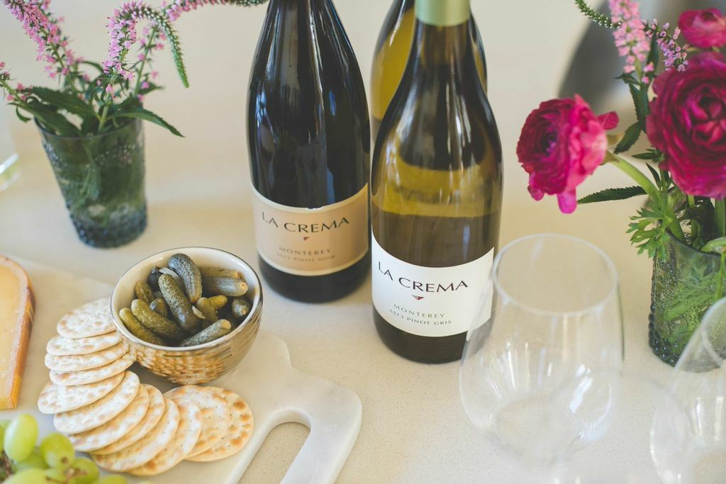 La Crema Monterey Pinot Gris and Pinor Grigio are great choices for a happy hour!