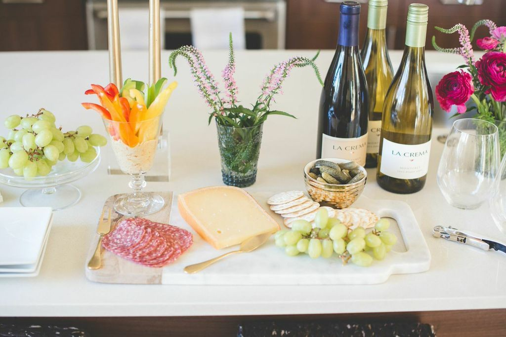 A simple Happy Hour spread makes for a stress free set up!
