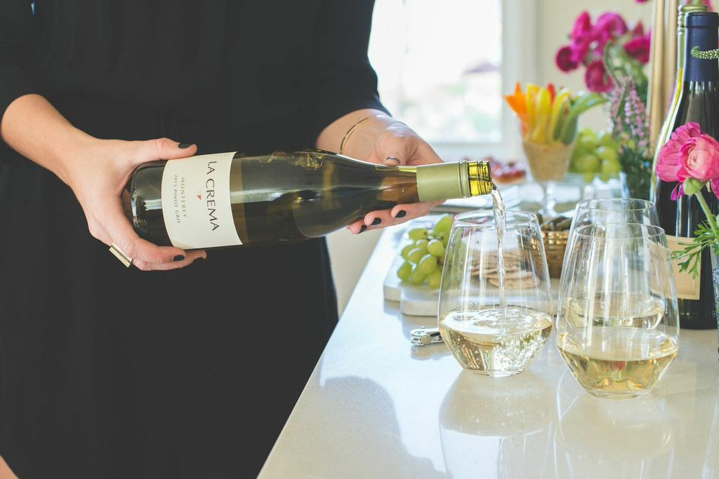 La Crema Pinot Gris is perfect for a happy hour!