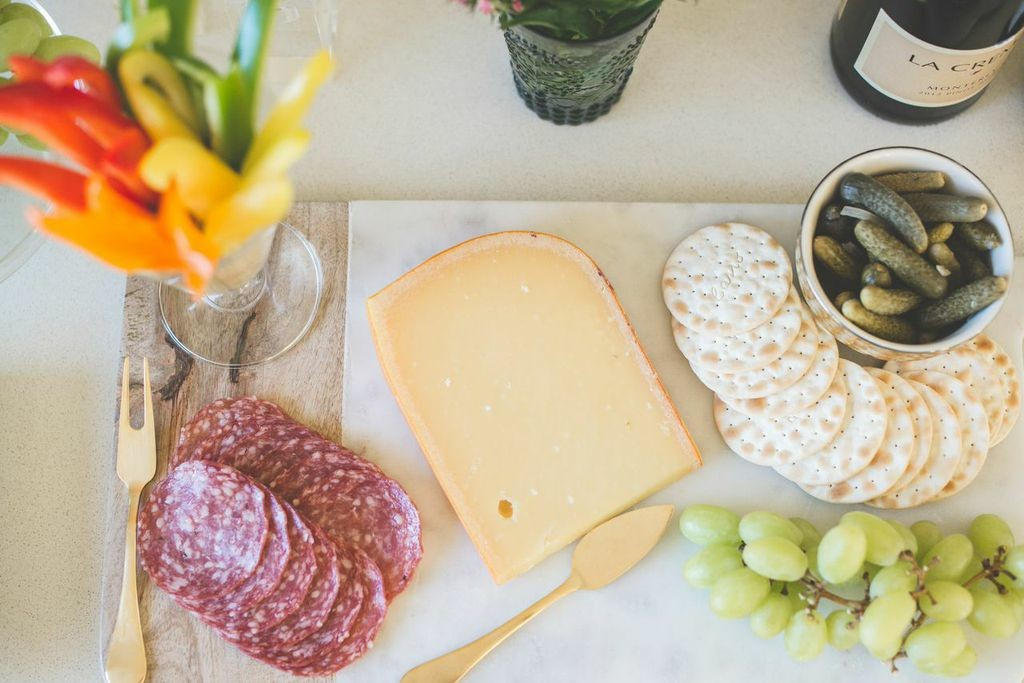 Cheese, crackers and accoutrements for a no-stress happy hour at home